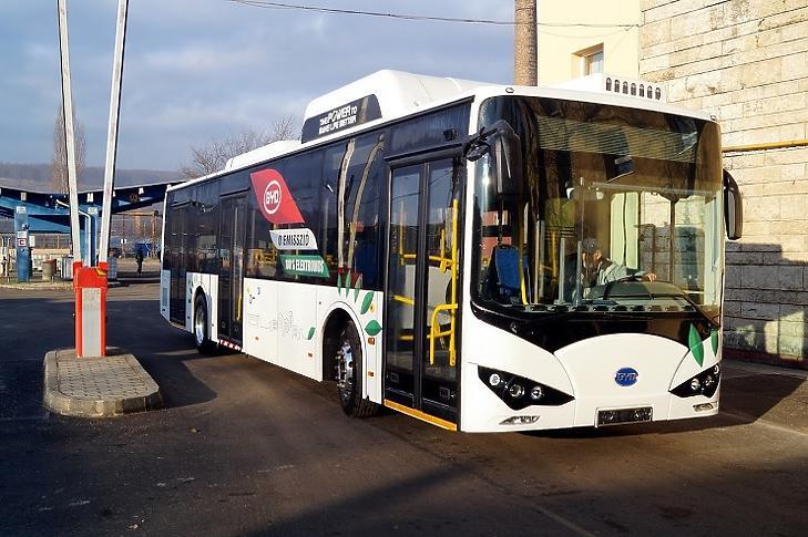 Az első elektromos, Magyarországon készült BYD busz. Illusztráció.