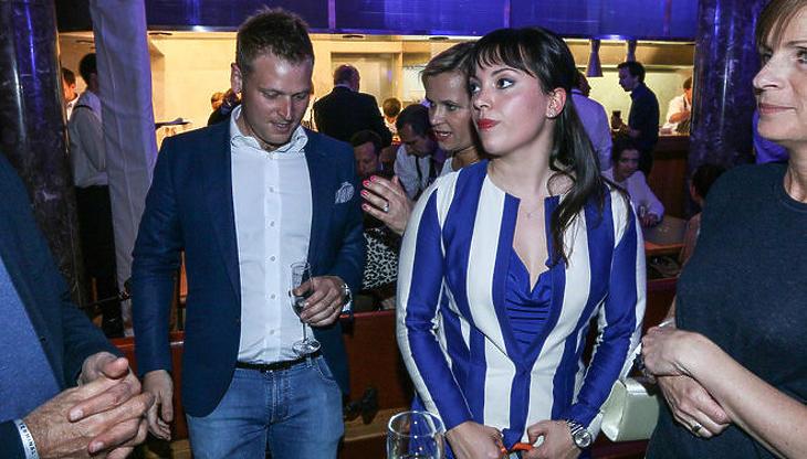 Orbán Ráhel a férjével