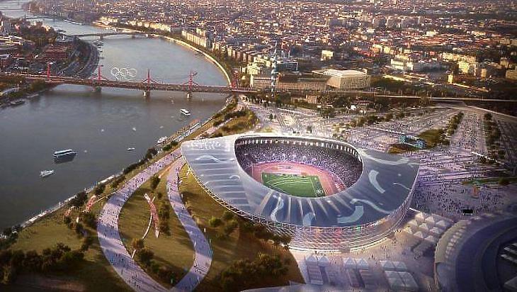 A Nemzeti Atlétikai Stadion látványterve