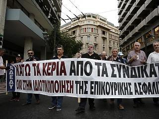 Ma egész nap sztrájkolnak a görögök
