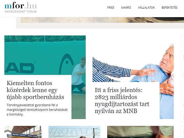 Az új mfor.hu címlap