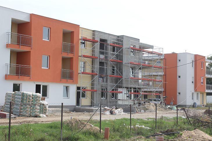 Budapesten egyre több lehet a külső kerületben indított társasházi építkezés (fotó: Mester Nándor)
