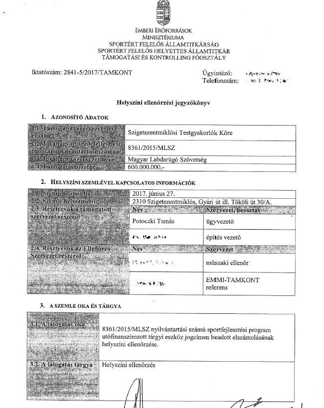 A dokumentum adatlapja