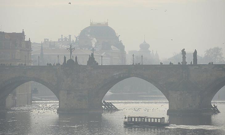 A prágai belvárosban volt a tüntetés (fotó: CTK)