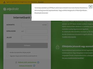 Nem működik rendesen az OTP Bank rendszere