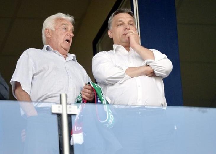 Orbán Viktor és apja, Orbán Győző (Fotó: MTI)