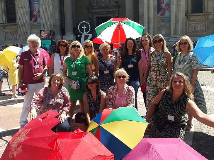 Esernyős flashmob. Fotó: saját