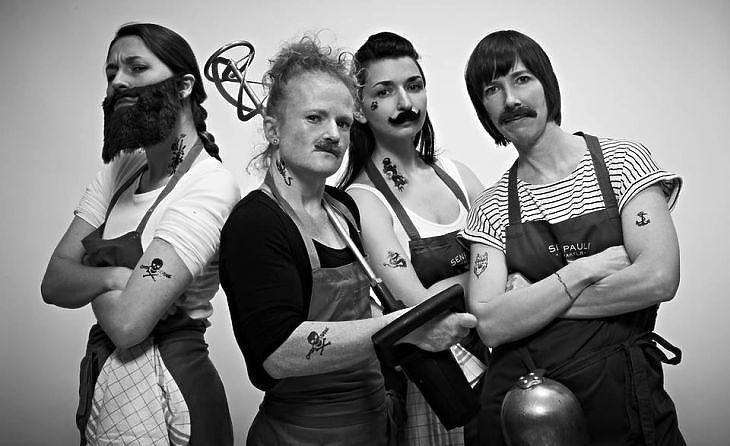 A mustárcsapat. (Forrás: Senf Pauli)