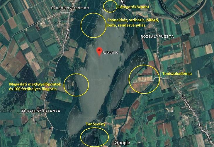 A tervezett fejlesztések (Fotó: Google, mfor.hu)