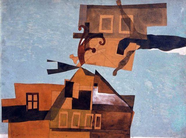 Vajda Lajos: Szentendrei házak feszülettel (a kép csak illusztráció, a megvásárolni kívánt műtárgyak listája nem ismert még)