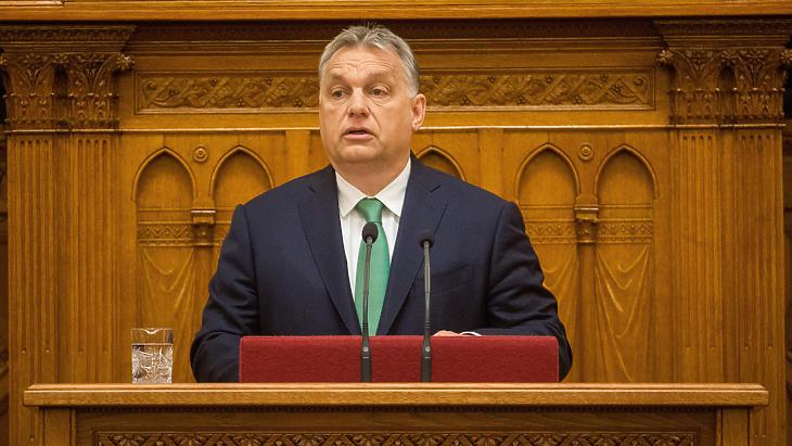 Orbán Viktor napirend előtt beszélt (Fotó: MTI)