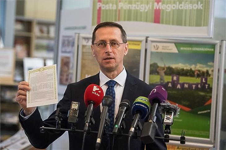 Varga Mihály pénzügyminiszter (MTI/Balogh Zoltán)