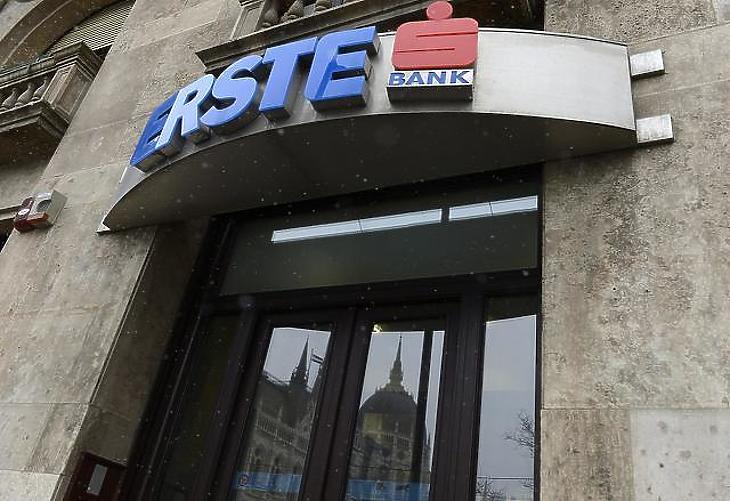 A vártnál jobb eredményre megugrottak az Erste-részvények