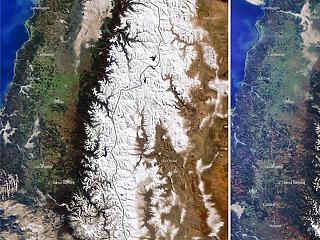 Alig hull hó az Andokban, veszélyben a hegység közelében élők vízellátása