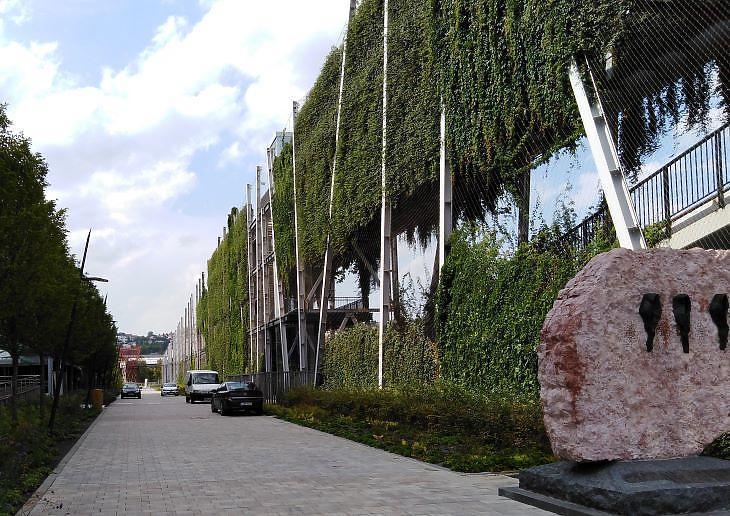 A függőkert az egész új parkrész tüdeje (fotó: Mester Nándor)