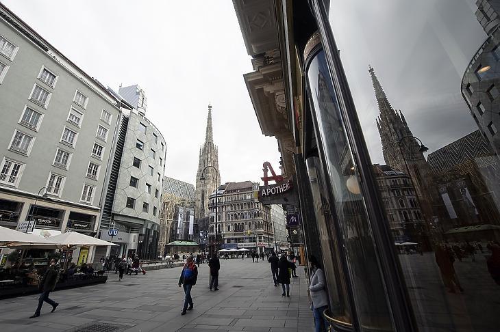 A bécsi Stephansplatz  2020. március 11-én. MTI/EPA/Christian Bruna