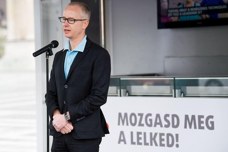 Szentes Tamás még országos tisztifőorvosként 2017-ben (Fotó: MTI Fotó, Balogh Zoltán)