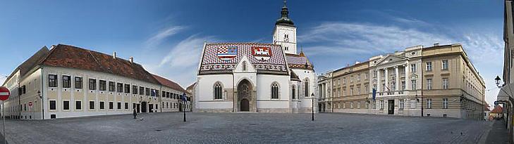 Szent Márk tér, Zágráb (Fotó: vlada.gov.hr)