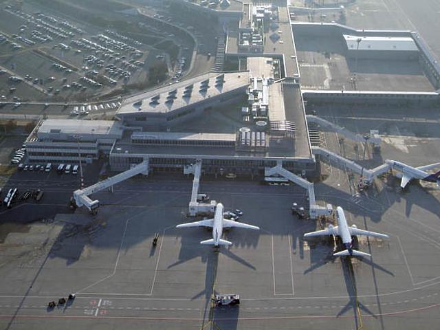 A budapesti reptér madártávlatból