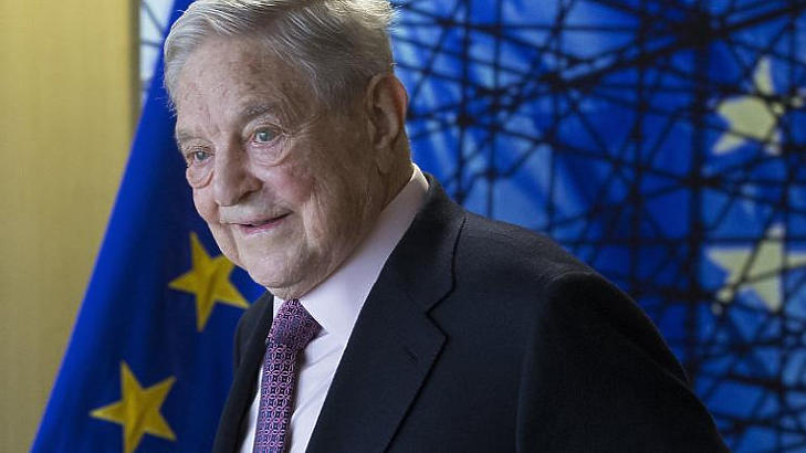 Soros György Brüsszelben 2017-ben (Fotó: MTI/EPA pool/Olivier Hoslet)