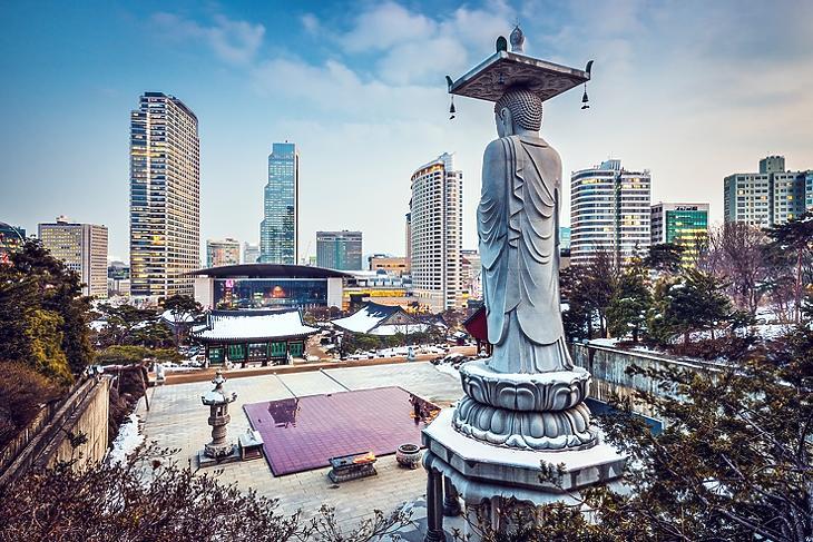 Szöul, Dél-Korea fővárosa. (Forrás: Depositphotos)