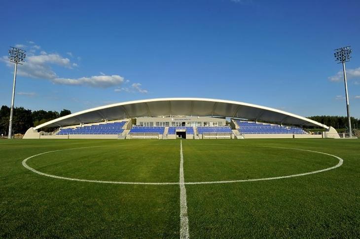 A szolnoki stadion (Fotó: Szolnoki MÁV FC)