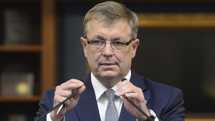 Matolcsy György felbeszélte a forintot. Fotó: MTI