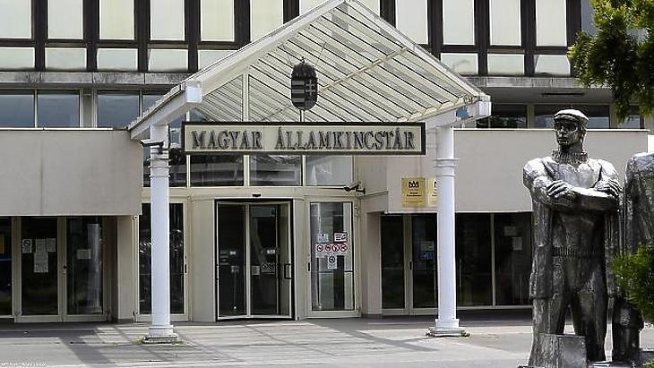A Magyar Államkincstár bejárata