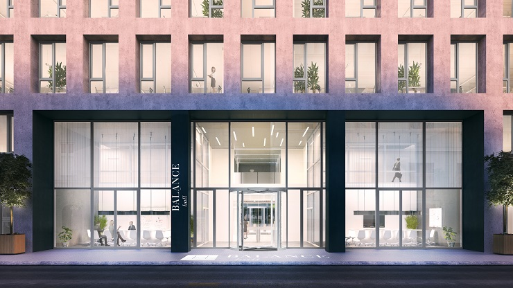 A CPI Hungary új épületszárnya, a Balance Hall tárgyalóinak látványterve