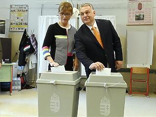 Orbán Viktor leadta a szavazatát