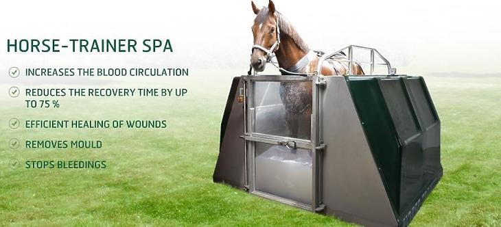 Ilyen berendezéssel végzik majd a vizes kezeléseket (Fotó: horse-trainerproducts.com)