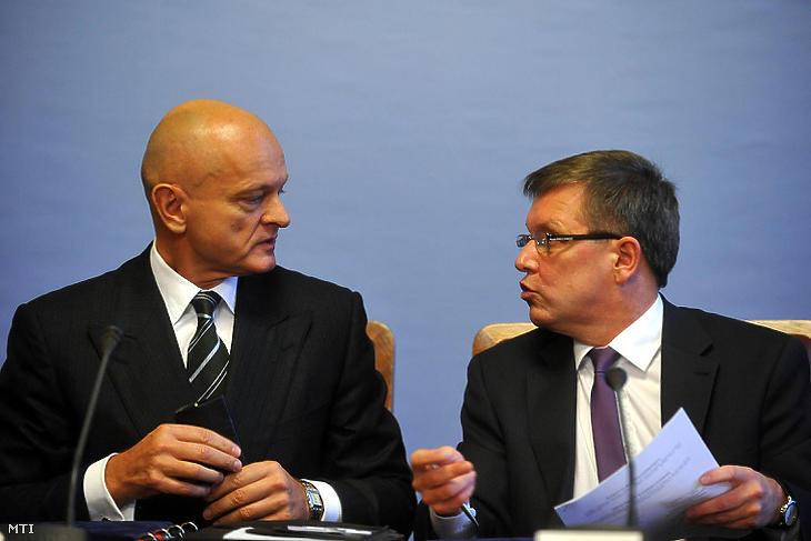 Patai Mihály és Matolcsy György (Fotó: MTI / Kovács Attila)