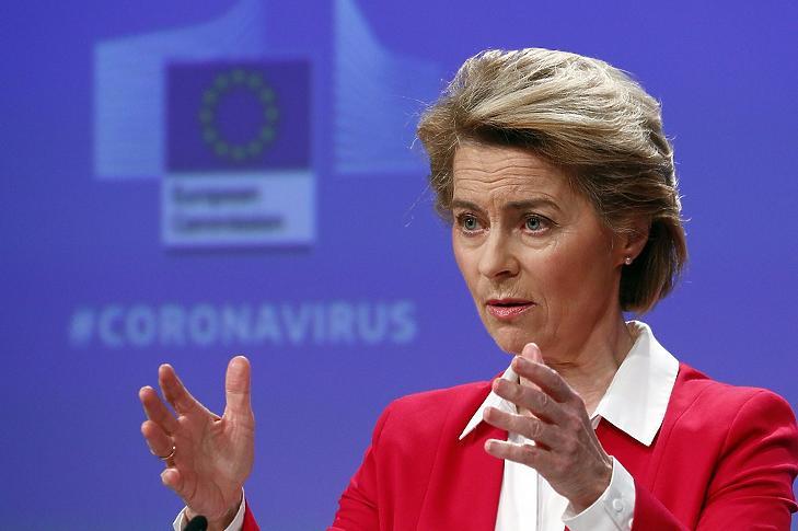 Ursula von der Leyen, az Európai Bizottság elnöke. MTI/EPA/REUTERS pool/Francois Lenoir