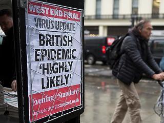 Koronavírus: egy nap alatt megint 900-nál többen haltak meg Nagy-Britanniában