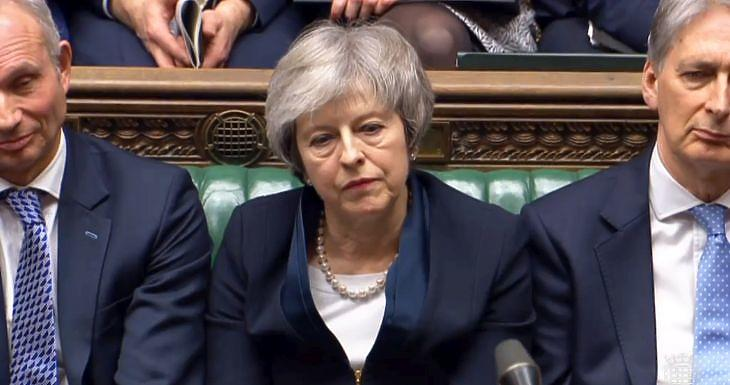 Theresa May. Forrás: brit parlament