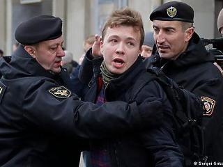 Az EU és  az USA is elítélte a fehérorosz újságíró elfogását
