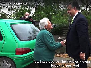Orbán nyugdíjemelésről konzultált Bözsi nénivel - videóval