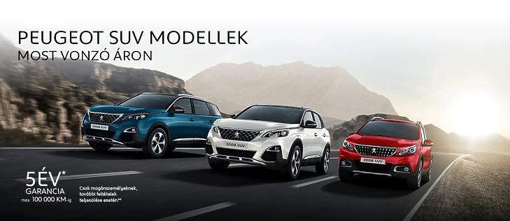 A Peugeot SUV modelljei
