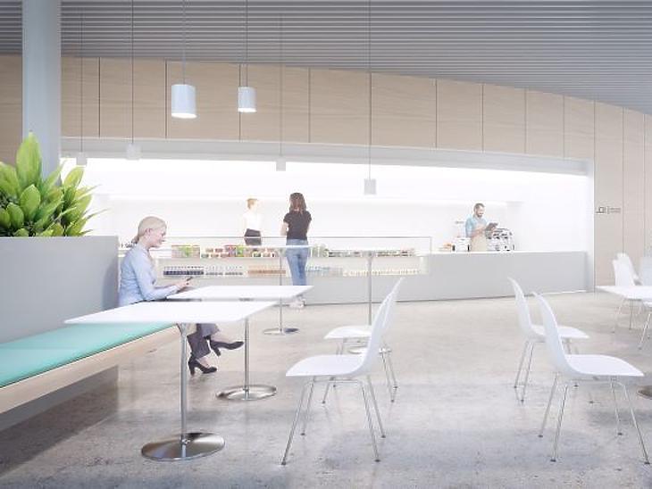 Ilyen lehet majd az étkező tér a dél-budai szuperkórházban