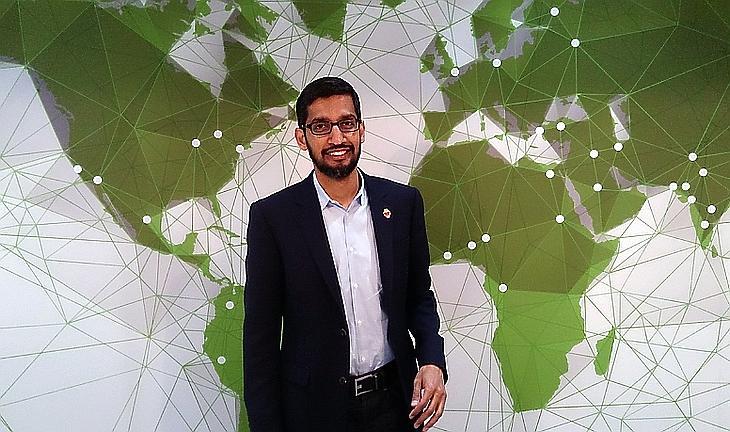 Sundar Pichai, a Google vezérigazgatója (Fotó: Wikimedia Commons)