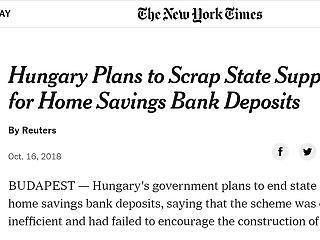 A New York Times is foglalkozik a lakástakarék-sztorival
