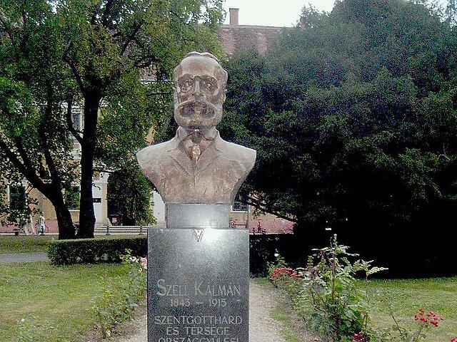 Széll Kálmán mellszobra Szentgotthárdon. (forrás: Wikipédia)
