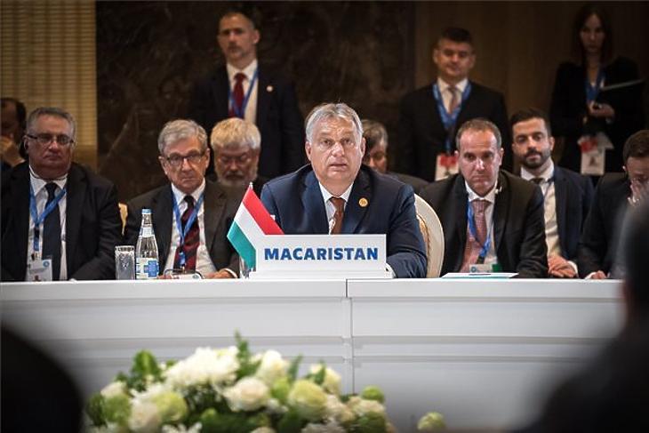 Orbán Viktor a Türk Tanács csúcstalálkozóján Bakuban 2019. október 15-én. MTI/Miniszterelnöki Sajtóiroda/Benko Vivien Cher