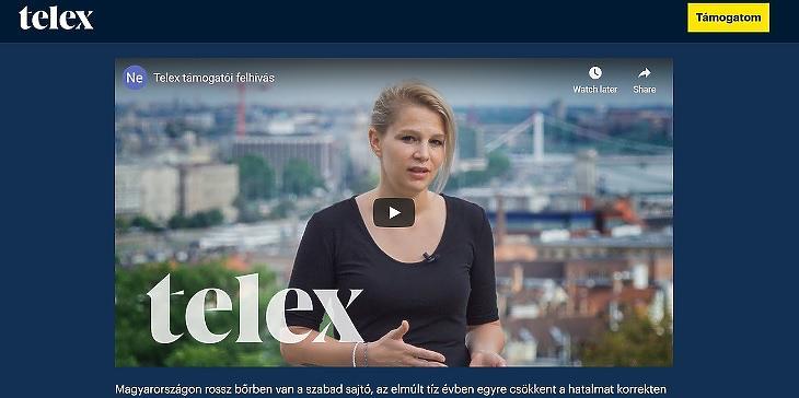 Munk Vera főszerkesztő beszél a Telex adománygyűjtő videójában