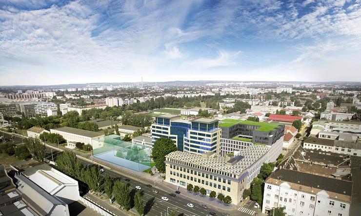 A CPI Hungary új épületszárnya, a Balance Hall látványterve