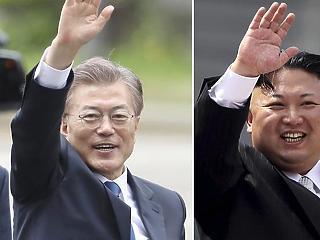 A demarkációs vonalon találkozik pénteken Észak- és Dél-Korea vezetője