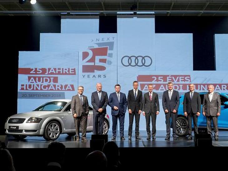 Audi-ünnepség Győrben