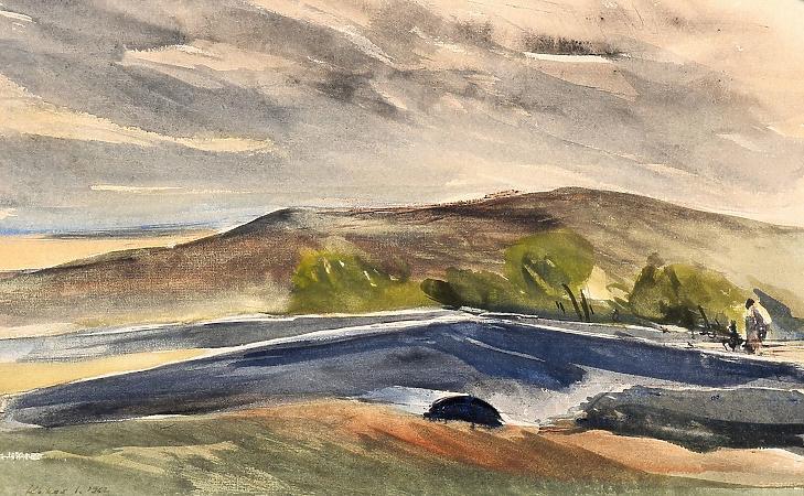 Kokas Ignác: Dombos táj (Forrás: Villás Galéria)