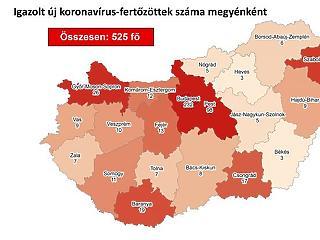 Térképen a koronavírus-fertőzöttek száma