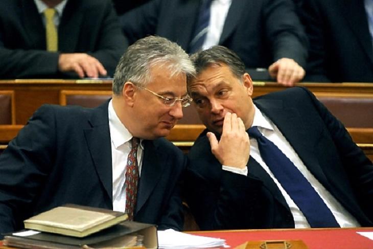 Semjén Zsolt, miniszterelnök-helyettes és Orbán Viktor, miniszterelnök (Fotó: MTI)